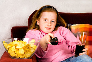 kid and junk food - Copyright – Stock Photo / Register Mark
