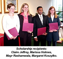 Scholarships recipients
