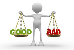 good vs bad - Copyright – Stock Photo / Register Mark