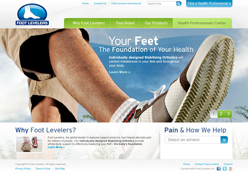 Foot Levelers New Website