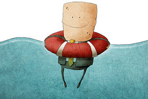 man in lifesaver - Copyright – Stock Photo / Register Mark