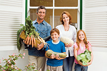 Go ORGANIC! Family - Copyright – Stock Photo / Register Mark