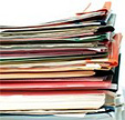 A stack of bindered studies. - Copyright – Stock Photo / Register Mark