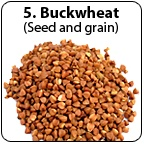 A pile of buckwheat grain. - Copyright – Stock Photo / Register Mark