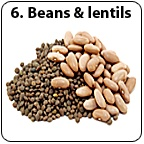 A pile of beans and lentils. - Copyright – Stock Photo / Register Mark