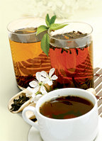 Cups of hot herbal tea. - Copyright – Stock Photo / Register Mark